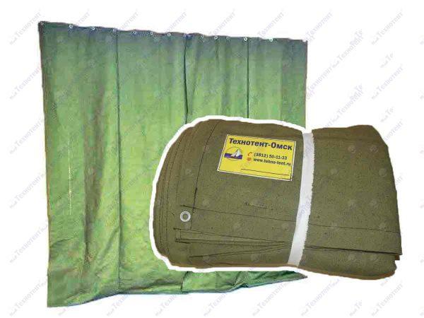 Штора/завеса из водоотталкивающего брезента для утепления проемов ворот гаража 2,5х6,9