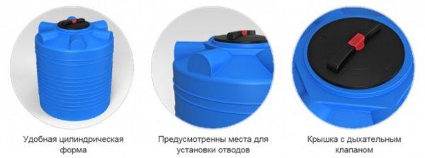 Емкость ЭВЛ 5000 с крышкой с дыхательным клапаном черный