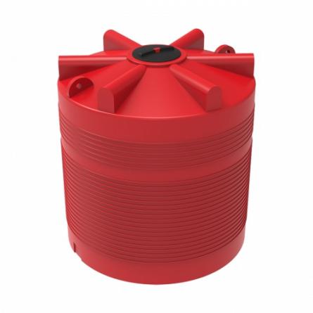 Емкость КАС 5000 ЭВЛ с откидной крышкой красный