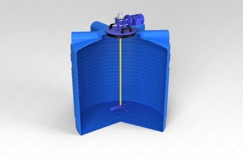 Емкость ЭВЛ 1000 с лопастной мешалкой