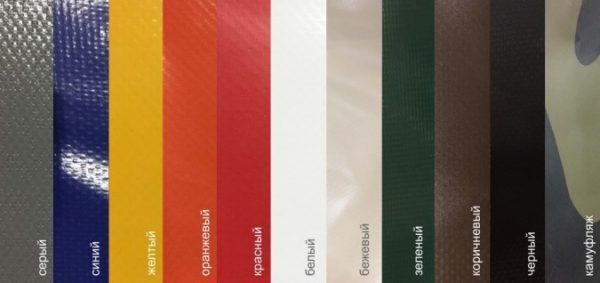 ПВХ ткань в рулонах 650 г/м2 Красный; ширина рулона 2,5м; 65 пм