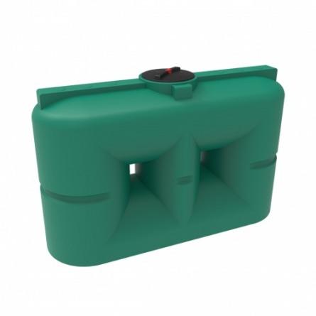Емкость S 2000 с крышкой с дыхательным клапаном зеленый