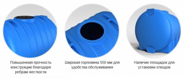 Емкость HR 5000 с крышкой с дыхательным клапаном черный