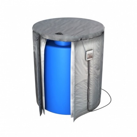 Емкость T 5000 с крышкой с дыхательным клапаном синий с утеплением