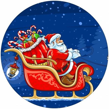 Ледянка мягкая диаметр 45см Дед Мороз