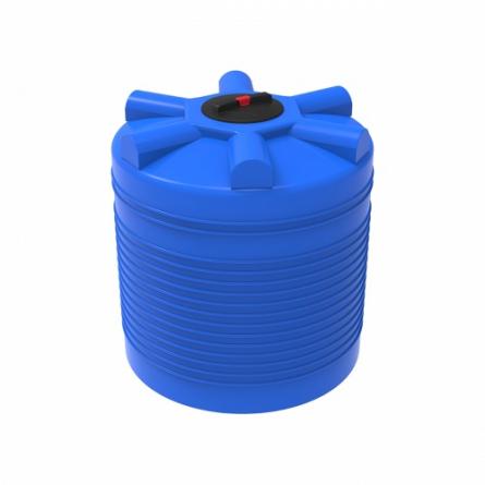 Емкость ЭВЛ 1000 с крышкой с дыхательным клапаном синий