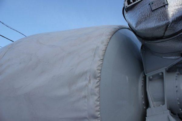 Термочехол на барабан-смеситель бетоновоза (Кожух)