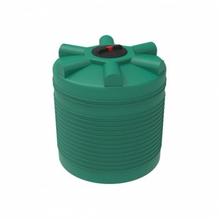 Емкость ЭВЛ 1000 с крышкой с дыхательным клапаном зеленый